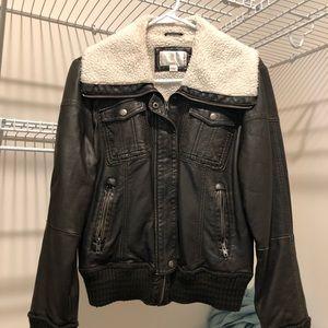 Jackets & Blazers - Ladies leather bomber jacket